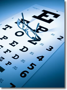 Eye-chart with glasses